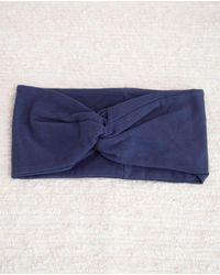Beaumont Organic Anjalina Organic Cotton Headband In Navy - Blue