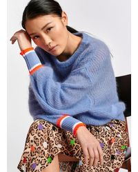Essentiel Antwerp Light Mohair And Wool Blend Sweater - Blue