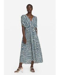 Ottod'Ame Midi Dress & White - Blue