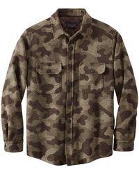 Pendleton Camo Cpo Jacket Camo Jacquard - Multicolour