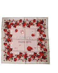 Lancel Scarves 70x70 - Blossom - Red
