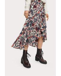 Maison Scotch Midi Print Wrap Skirt - Multicolor