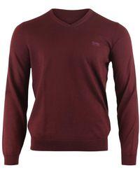 BOSS by Hugo Boss Baram-l V-neck Sweater - Red