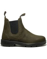 Blundstone - 1615 Waxed Suede Olive - Lyst