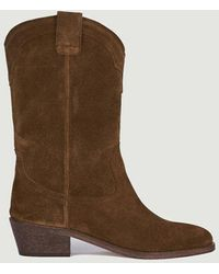 Anthology Welson Suede Leather Boots Tabac 409 - Brown