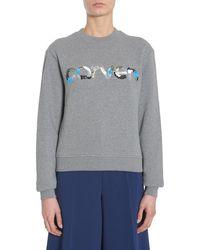 Carven Cotton Sweatshirt - Gray