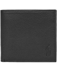 Ralph Lauren Billfold Wallet Debossed – Black - Brown
