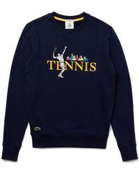 Lacoste Live Tennis Design Sweatshirt Navy Blue