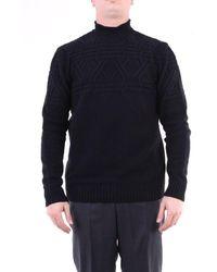 Jeordie's Knitwear High Neck Men Black