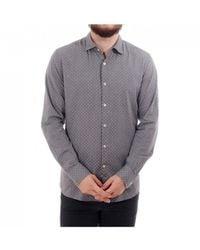 J.Lindeberg Daniel Lux Slim Fit Shirt Geo Design - Gray