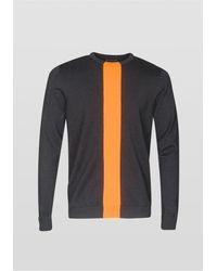 Antony Morato Pannel Front Knit Sweatshirt Colour: , - Black