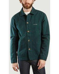 Maison Labiche Fighter Embroidered Worker Jacket Ponderosa Pine Paris - Green