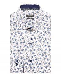 Remus Uomo Uomo Small Floral Print Shirt Colour: , - White