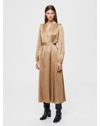 SELECTED Moni-florenta V-neck Satin Maxi Dress - Multicolour