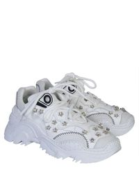 N°21 Star-embellished Billy Sneakers - White