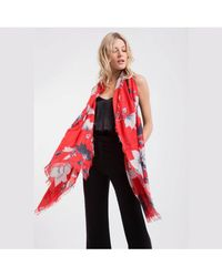 Lily and Lionel - Red Magnolia Silk Scarf - Lyst