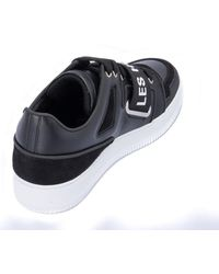 Les Hommes Sneakers With Suede Inserts - Black