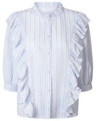 Lolly's Laundry Lollys Laundry Hanni Stripe Shirt - Blue