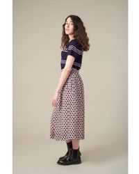 Emily and Fin Faye Pink Swans Midi Skirt