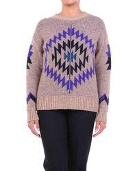 ACTUALEE Knitwear Crewneck Fantasy Sand - Purple