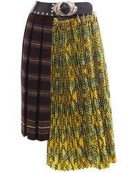 Chopova Lowena Pleated Skirt - Brown