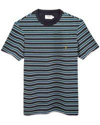 Farah Canyon Stripe T-shirt - True Navy - Blue