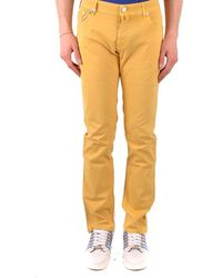 Jacob Cohen Jeans In Yellow
