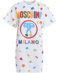 Moschino White T-shirt Dress