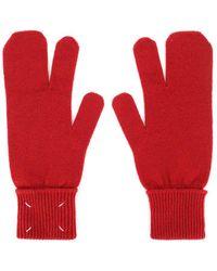 Maison Margiela 4-stitch Gloves - Red