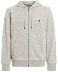 Polo Ralph Lauren Blue Full Zip Hoodie - Grey