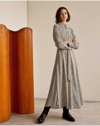 Yerse Long Dress - Grey