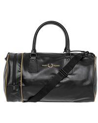 Fred Perry Barrel Bag - Black