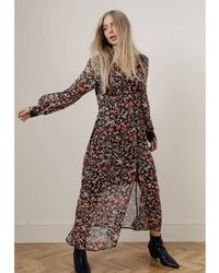 Lily and Lionel Outlet Lily & Lionel Wren Floral Maxi Dress - Black