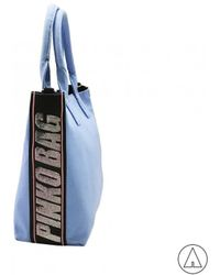 Pinko - Tote Bag In Blue - Lyst
