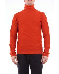 Paolo Pecora Virgin Wool Turtleneck - Orange