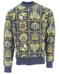 Versace Jeans Couture Versace Jeans Sweater Black / Gold B7gzb7f4s0932899 - Blue