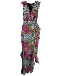 Silvian Heach Abbamo Dot Dress - Multicolour