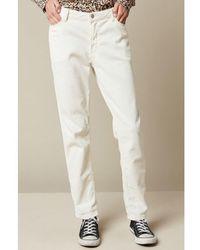 Hartford Pencil Corduroy Pants - White
