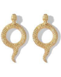 Natia X Lako Round Snake Earrings - Metallic