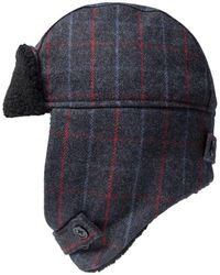 Paul Smith Checked Trapper Hat Grey