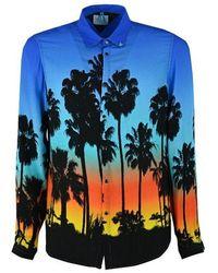 Berna Viscose Shirt - Blue