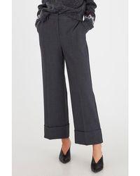 B.Young Byelisa Cuff Trousers Dark - Grey