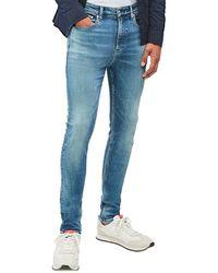 Calvin Klein Ckj 016 Skinny Jeans - 1a4 Bright Mid - Blue