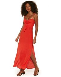 Vitamin A Tricia Dress Coral - Orange