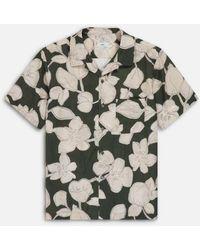 Closed Short Sleeved Shirt | Fir - Grey