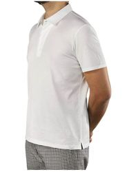 Paolo Pecora Polo Cotone Bianco - White