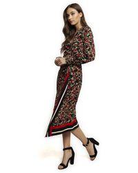 Dex Long Sleeve Wrap Dress - Red