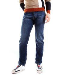 Mauro Grifoni Men's Gh14200888s11denim Blue Cotton Jeans