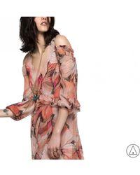 Patrizia Pepe - Printed Dress In Pink - Lyst