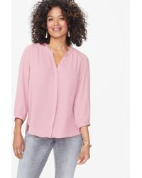 NYDJ Pintuck Woodrose Blouse S1f0537 - Pink